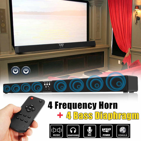 60W 108cm Soundbar Speaker TV Wireless bluetooth 4.0 Speaker MP3 Surround Sound Home Theater System Wall Mountable