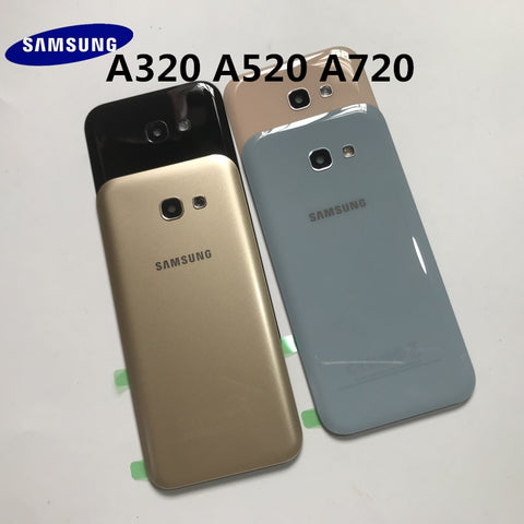 Back Glass For SAMSUNG Galaxy A3/A5/A7 2017 A320 A520 A720 Back Battery Glass Cover