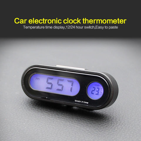 Portable 2 in 1 Car Digital LCD Vehicle electronic clock