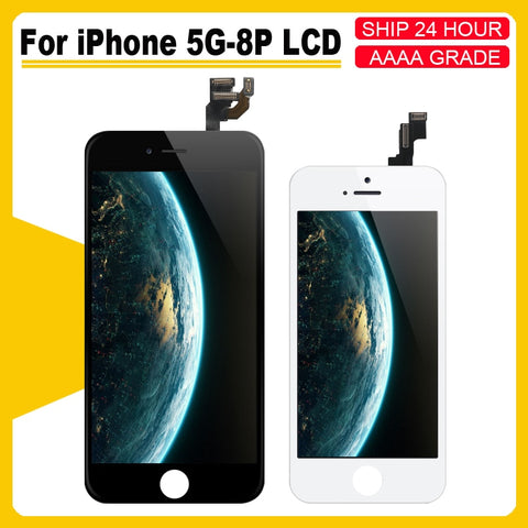 iPhone 5 5S 5C 6 6S 6P 6SP LCD with perfect 3D Digitizer MOUNT with Touch Screen for iPhone 7 8 7P 8PLUS Display