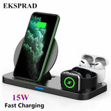 3 in 1 Wireless Charger 15W for iPhone 11/11Pro/X/XS Apple Watch Series 5 4 3 Airpods 1/2/Pro