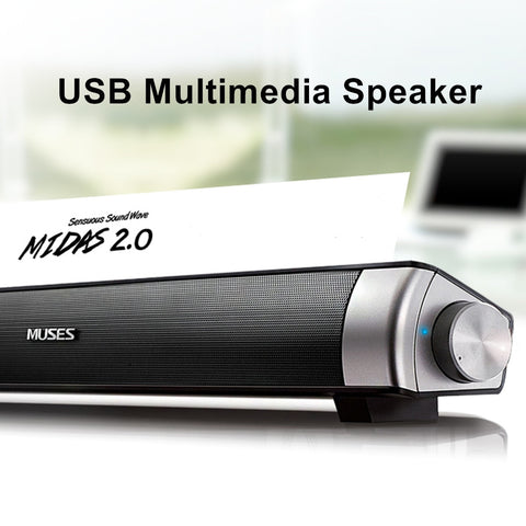 Speaker Wired Soundbar Speaker HIFI Bass Stereo USB AUX Mic for Computer PC Smartphone TV Home Theater Laptop