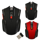 2.4GHz Wireless Gaming Mouse 1200 DPI 6 Keys USB 2.0 Receiver