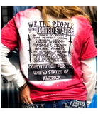 We The People/US Constitution Bleached Tee