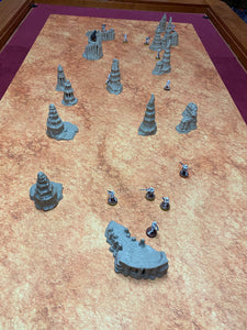 Geonosis Desert Rock Spires Terrain for Star Wars Legion Wargaming