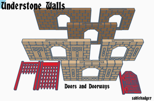 Understone Walls - Fantasy themed modular wall system - 3D model files