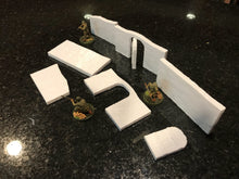 Load image into Gallery viewer, Desert Building Walls - 28mm 32mm - Great for WWII Bolt Action / Star Wars Legion / Infinity / Warhammer 40k - Wargame Terrain / Wargaming