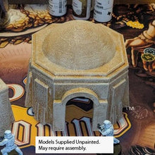 Load image into Gallery viewer, Sci Fi Desert Hut House 28mm 32mm - Great for Star Wars Legion / Infinity / Warhammer 40k - Empire Wargame Terrain / Wargaming - Octagonal