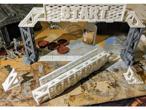 Upgraded Gates for Gaslands Car Combat Game - wargame terrain
