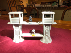 Modular Towers and Walkways for Science Fiction Wargaming - Start Wars Legion