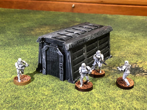 Imperial Barracks Bunker 28mm 32mm for Star Wars Legion - Wargaming Terrain