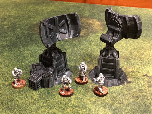 Communication Relay Tower 28mm 32mm - 2 per order - Wargame Terrain for Star Wars Legion