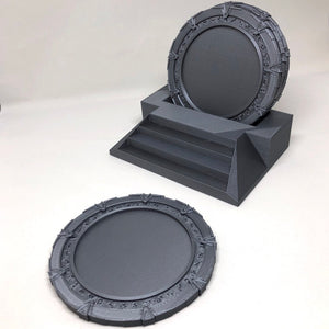 Stargate SG-1 drink coasters the ultimate nerd gift. Cool Beer Coasters make a great geek gift. Gao'uld