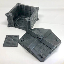 Load image into Gallery viewer, Crypt - Square - One Door - Fantasy Wargaming Terrain for 28mm 32mm - Frostgrave, Warhammer, Age of Sigmar, Hordes - sablebadger