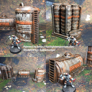 Chemical Tanks 28mm 32mm - Great for Star Wars Legion / Infinity / Warhammer 40k