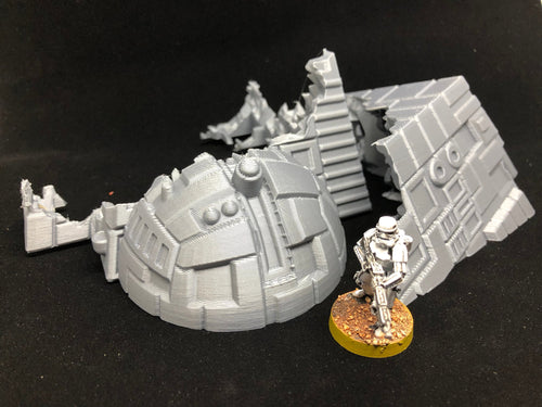 Starship Wreck For Star Wars Legion (28mm Terrain)