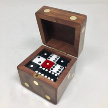 Load image into Gallery viewer, Wood D6 Dice Case - Dice Cup / Storage Container - Handmade - Fits 12 16mm D6 - DnD Dice Box - Giant Die of Holding - Use it as a gift box