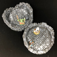 Load image into Gallery viewer, OpenLOCK Round Tower Ruins Starter Set in TileStone design - 28mm / 32mm Wargame Terrain - designed by sablebadger