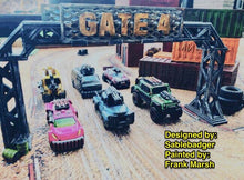 Load image into Gallery viewer, Upgraded Gates for Gaslands Car Combat Game - wargame terrain