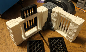 Tilestone Walls for Fantasy Medieval Gaming - Dungeons and Dragons and Frostrgrave -  Digital Design 3D Printing file - by SableBadger