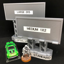 Load image into Gallery viewer, Billboard Digital 3D Printing Files - Steel Looking Beams - HO 20mm - Great Gaslands / Car Wars - Great Car Combat Game