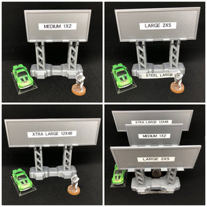 Billboard Digital 3D Printing Files - Steel Looking Beams - HO 20mm - Great Gaslands / Car Wars - Great Car Combat Game