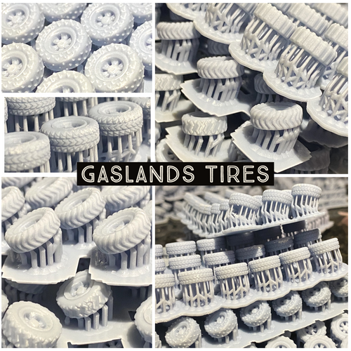 Gaslands Tires - Exclusive design by Sable Badger