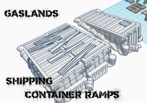 Gaslands Vehicular Combat Ramps - Digital Files for 3D Printing - Sablebadger