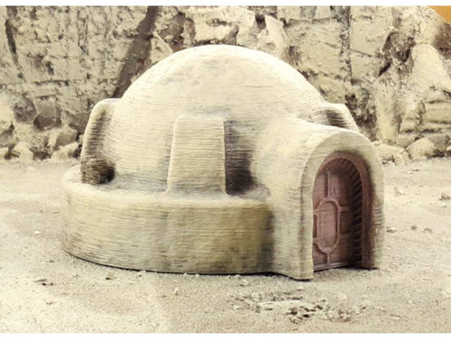 Round Desert Tatooine House For Star Wars Legion Wargaming Terrain in 28mm 32mm scale