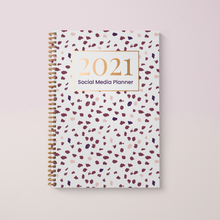 Load image into Gallery viewer, Social Media Content Planner and 2021 Diary A4 Hardback, Polka Spot