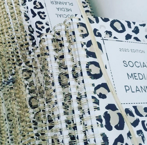 Social Media Content Planner 2020 Leopard Print CLEARANCE