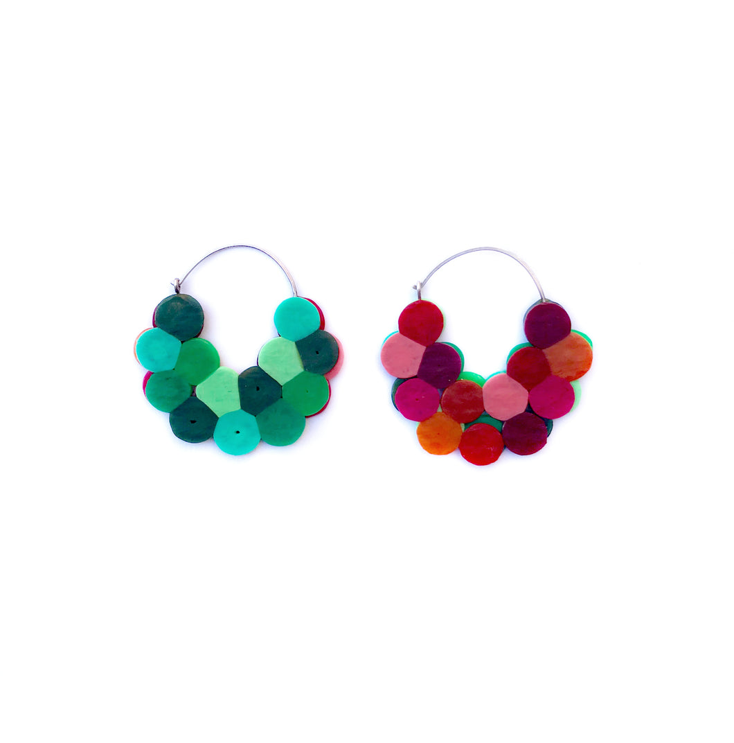 Cluster Hoops red/green small