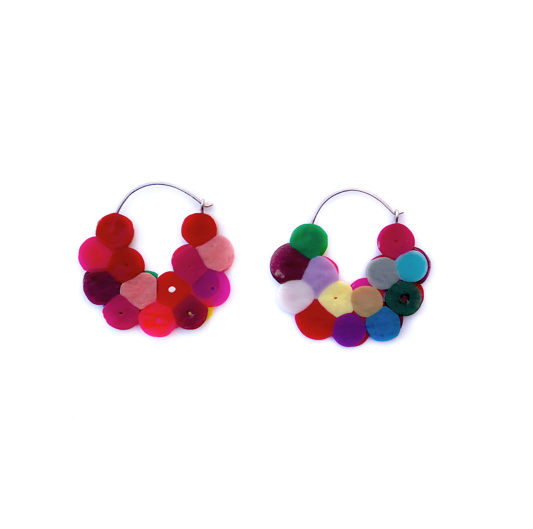 Cluster Hoops red/multicoloured small