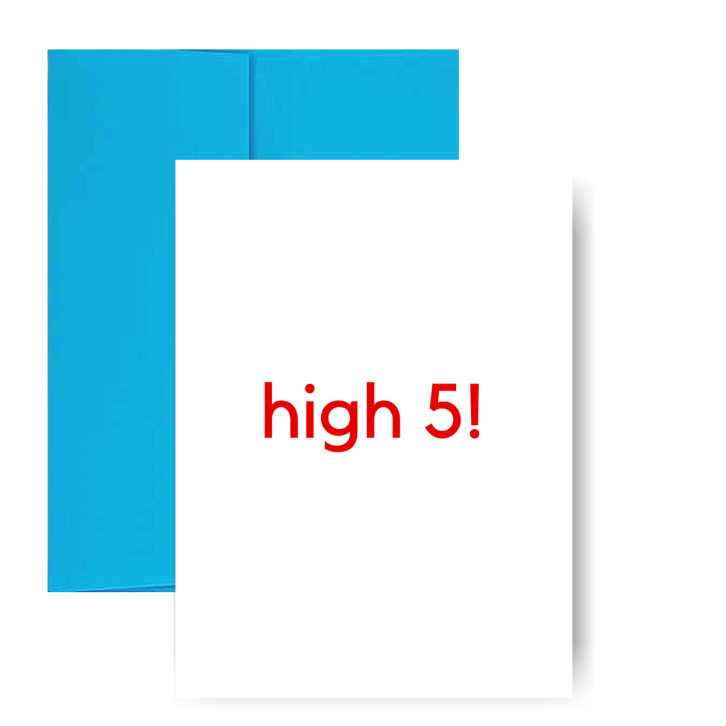 High 5! Greeting Card