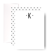 Load image into Gallery viewer, Studio Lemonade Monogram K Notecards