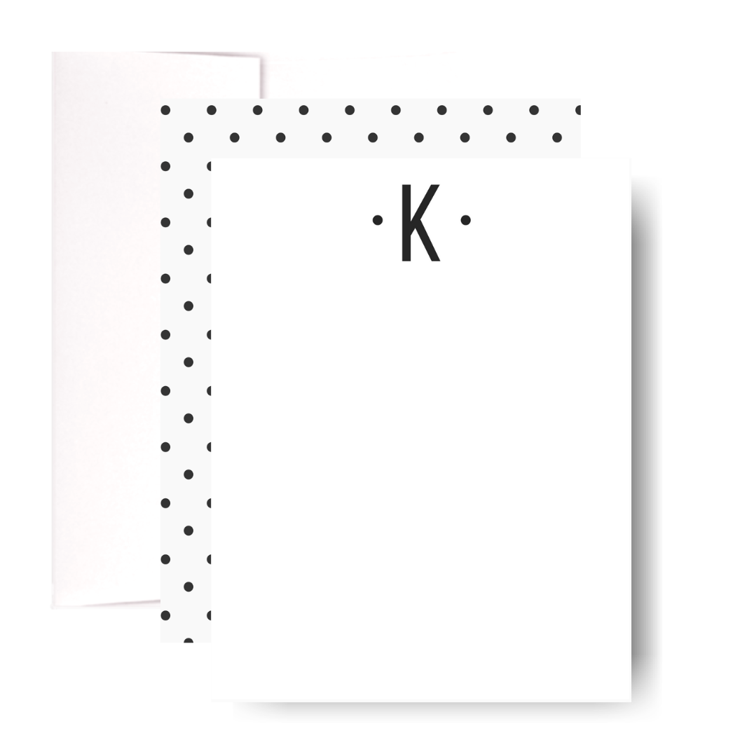 Studio Lemonade Monogram K Notecards