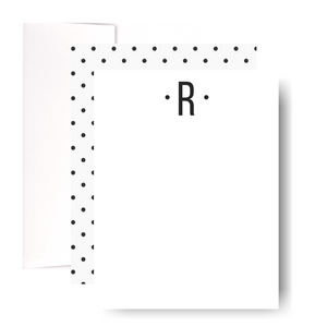Studio Lemonade Monogram R Notecards