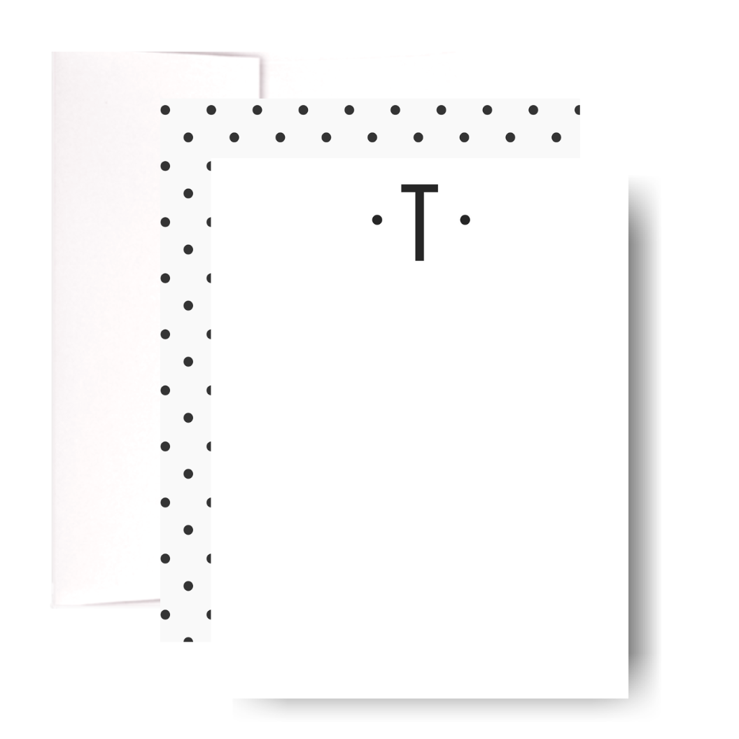 Studio Lemonade Monogram T Notecards G