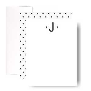 Studio Lemonade Monogram J Notecards G