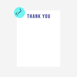 Thank you notecard Set