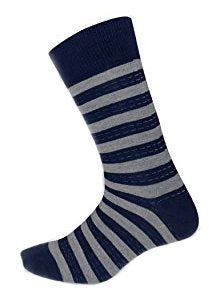 Living Socks Mens Classic Stripe 3 Pair Stretch Variety Dress Socks 6-12 Shoe
