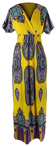 B0152-Paisley-Dress-Yellow-M-AJ
