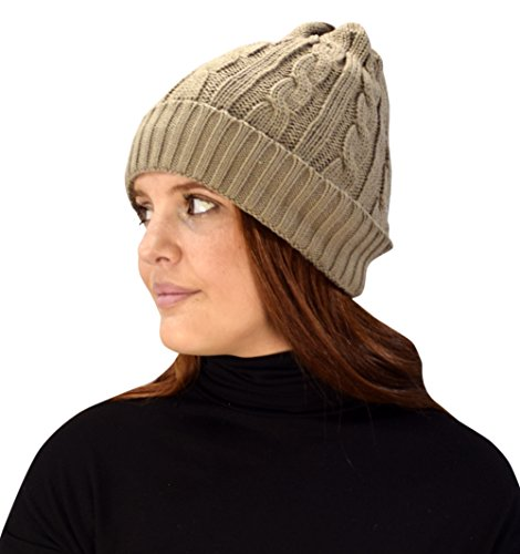 Thick Knitted Double Layer Unisex Fleece Lined Winter Beanie Hat