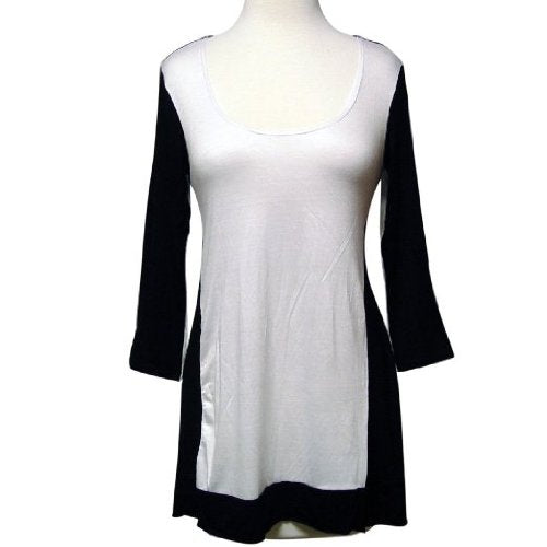 Retro Indie Black & White Hi-low Can You Go Tunic Top