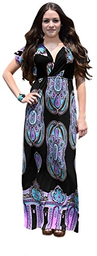 B0149-Paisley-Dress-Black-L-AJ