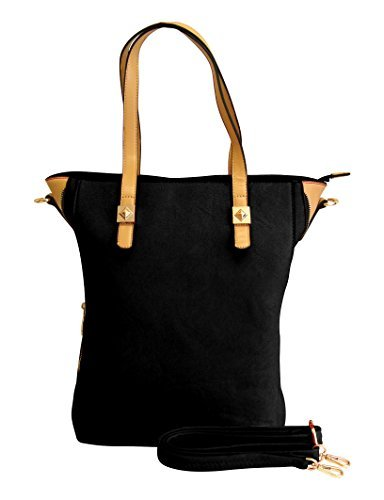 A1666-OLIVIA-Large-Zipper-Tote-Black-KL