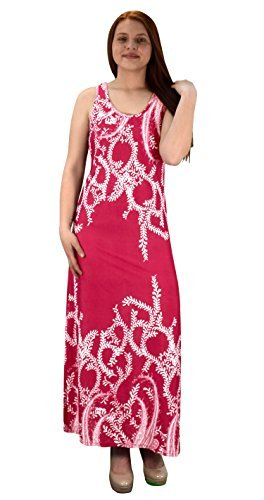 Peach Couture Exclusive Paisley Print Sleeveless Scoop Neck Beach Maxi Dress