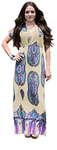 B0158-Paisley-Dress-Cream-XL-AJ