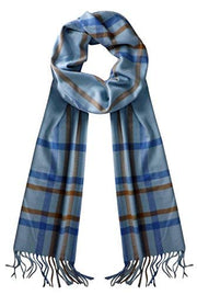 Soft Cashmere Feel Plaid Houndstooth Print Scarf Unisex Scarves Warm & Cozy