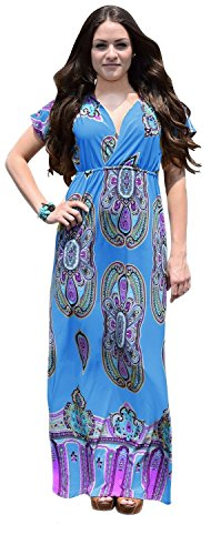 B0145-Paisley-Dress-Blue-L-AJ